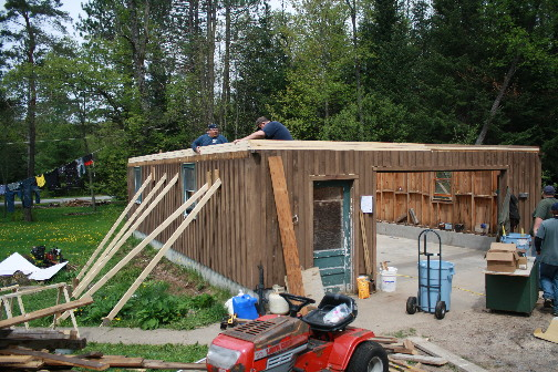 Repairing a family garage in Wanakena