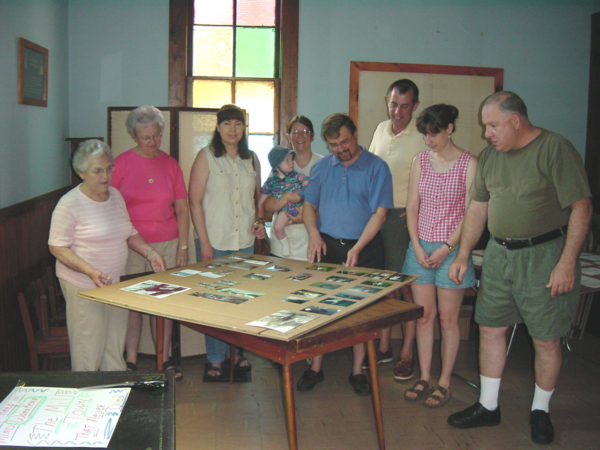 Selecting photos for the Wanakena Historic Walking Tour