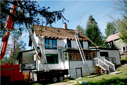 Replacing a roof in Wanakena