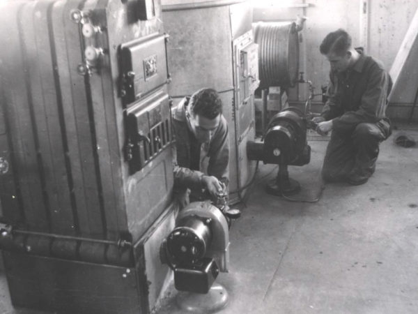: Students at the heating ventilation & air conditioning program at the SUNY Canton Agricultural and Technology College