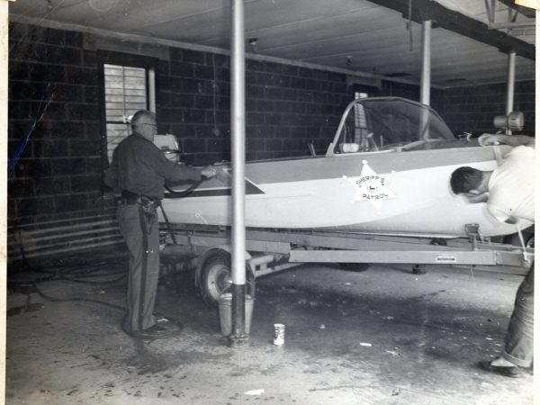 The St. Lawrence County's first water patrol boat in Canton