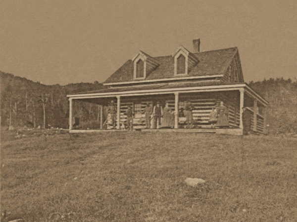 Early cabin in Tupper Lake