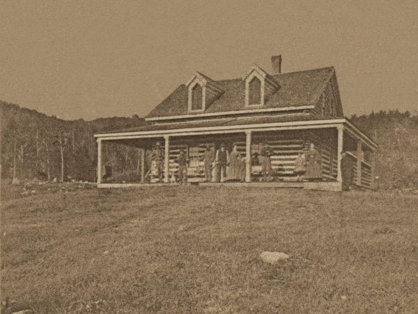 Early cabin in Tupper Lake
