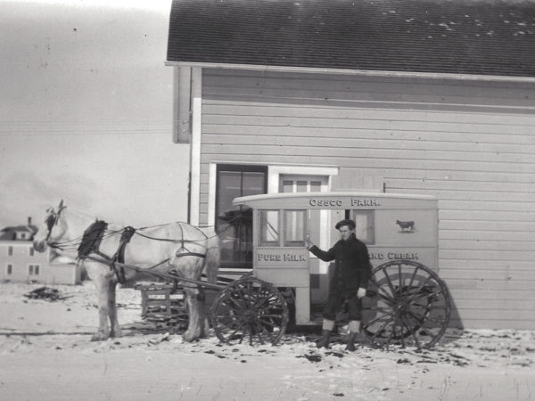 Ossco Farm Milk delivery wagon in Tupper Lake