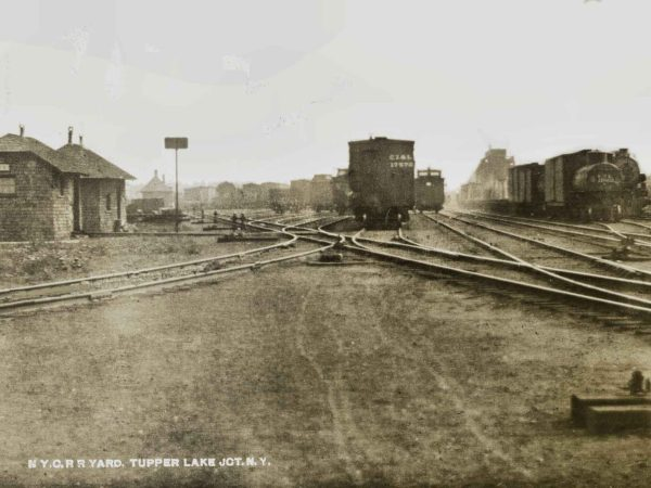 New York Central Railroad switching yard at Tupper Lake Junction