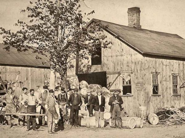 A cooper's shop in the western Adirondacks