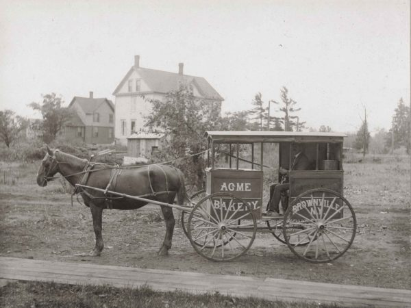 Acme Bakery delivery wagon in Brownville