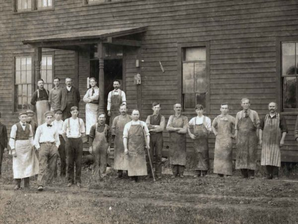 Employees of Dexter Finishing Shop in Dexter