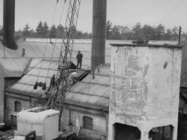 Workers at a coal plant in Plattsburgh