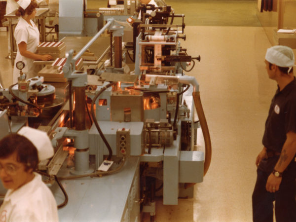 The packaging line at Wyeth-Ayerst Laboratories in Rouses Point