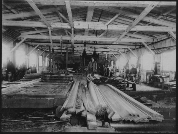 Interior of the Santa Clara Lumber Company in Tupper Lake