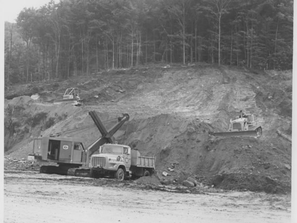 Construction on Big Tupper in Tupper Lake
