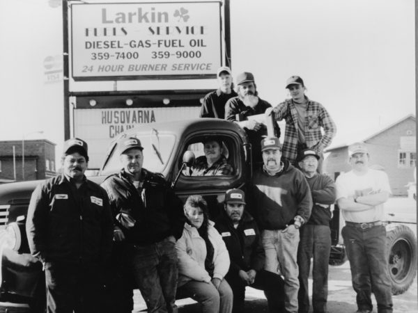 Workers at Larkin Fuel Service in Tupper Lake