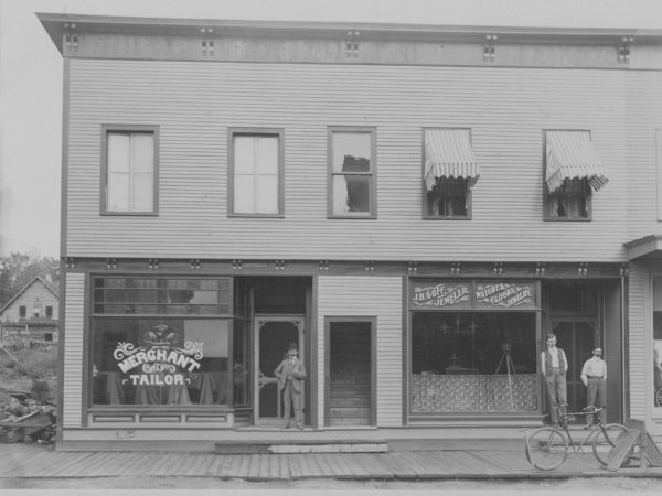 Businesses on Park Street in Tupper Lake