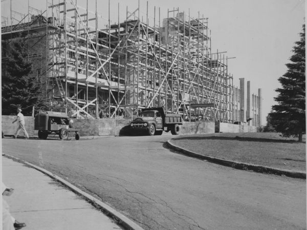 Construction on the Tupper Lake High School