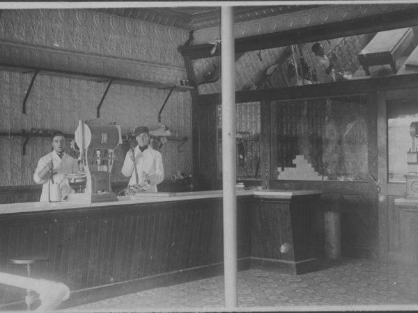 Inside First Meat Market in Tupper Lake