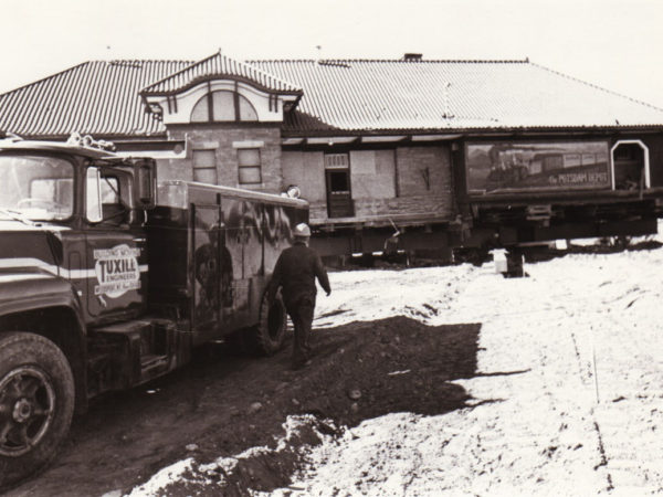 Worker at the Potsdam Depot site in Potsdam NY