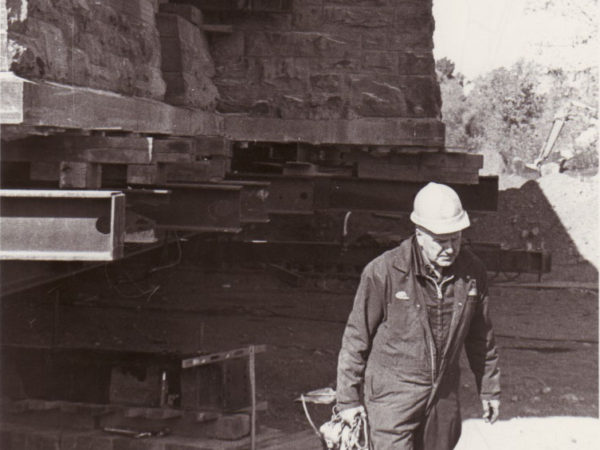 Worker at the Potsdam Depot Moving Site in Potsdam, NY
