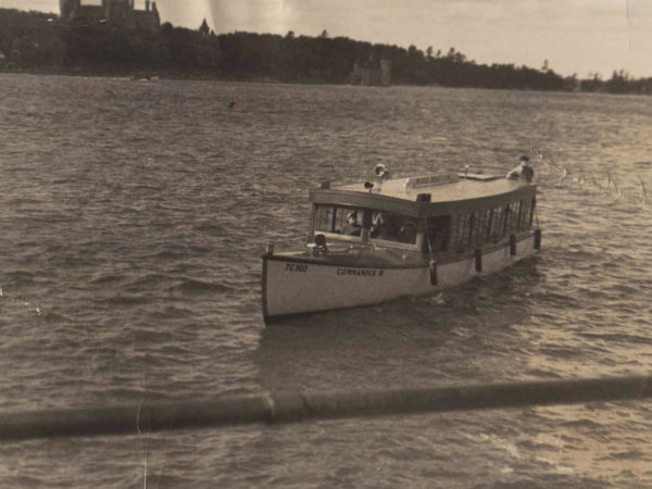 "The ""Commander III"" Sailing away from Boldt Castle"
