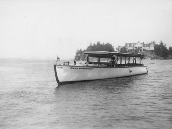 "The tour boat ""New Island Wanderer I"" on the St. Lawrence River"
