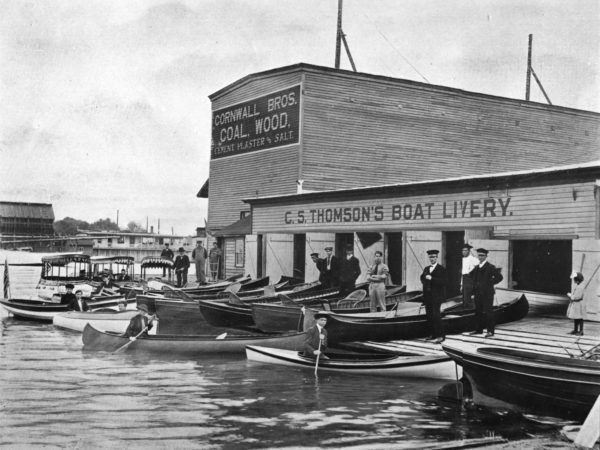 Thomson's Boat Livery on the waterfront in Alexandria Bay
