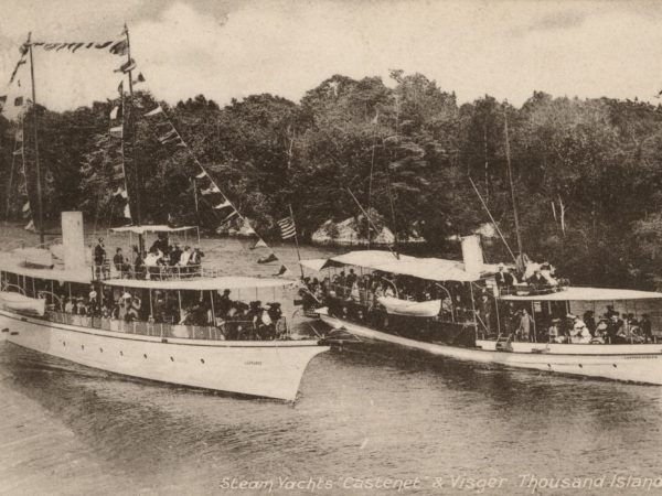 "The tour boats ""Castanet"" and ""Captain Visger"" near the Thousand Islands"