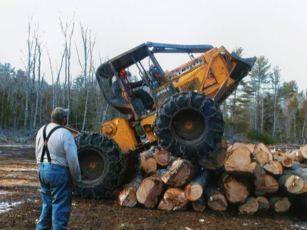 Operating a Log Skidder in Elizabethtown