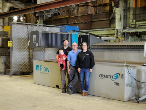 The Trombly family in Modern Mechanical Fab in Champlain