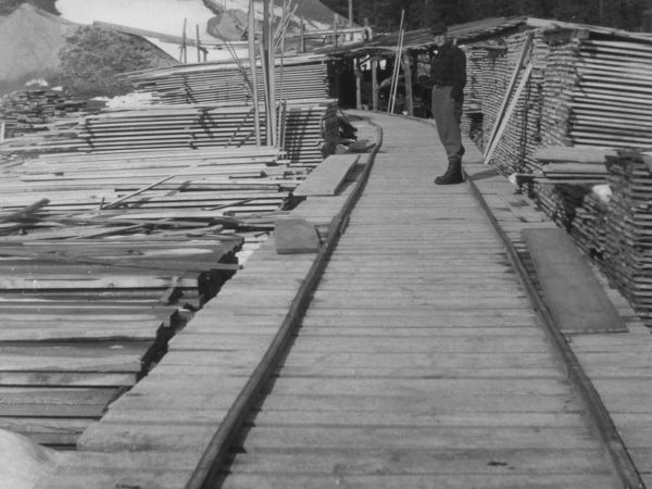 At the Triangle Lumber Mill in Onchiota
