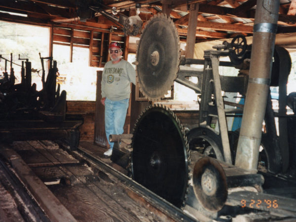Patrick John Henry McKenty visits the Triangle Lumber Company mill in Onchiota