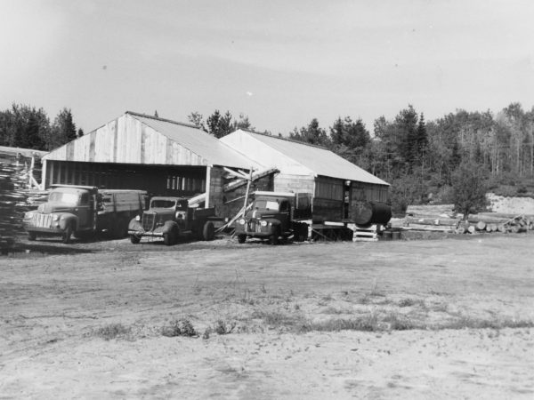 The Triangle Lumber Company mill in Onchiota
