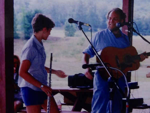 Dan and Jenny Berggren performing at benefit in North Creek