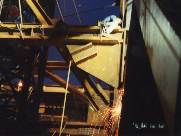 Mohawk ironworker cutting iron