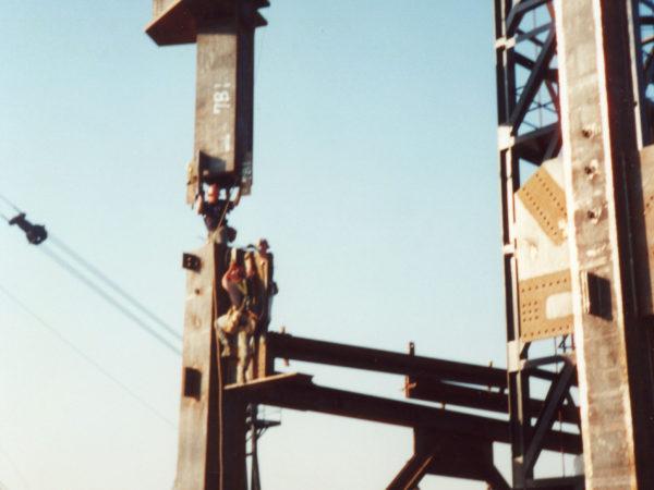 Darryl Lazore Setting a 28-ton Iron Column