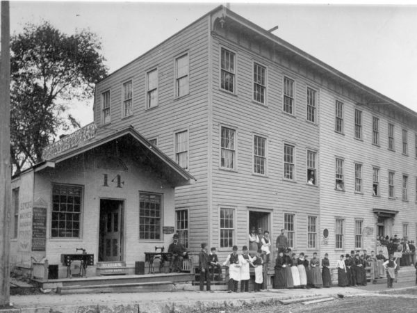 A. S. Rugge shirt factory workers on Park Street in Glens Falls