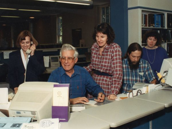 Reference staff at Crandall Public Library in Glens Falls