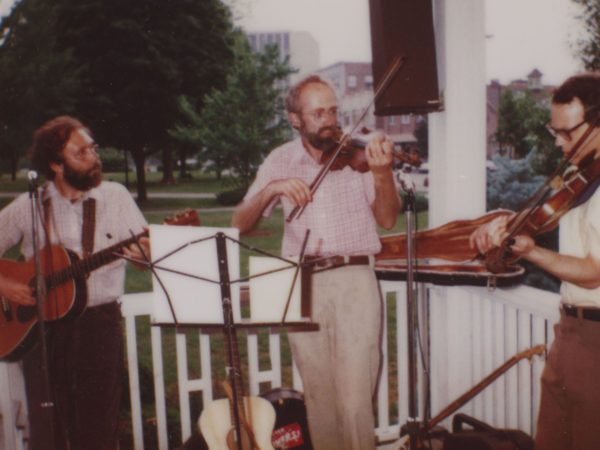 """Band """"The Whippersnappers"""" performing in City Park in Glens Falls"""