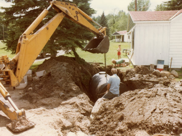 Putting in a new septic tank at The Woodruff Motel in Keene