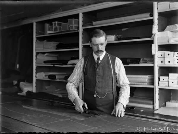 Tailor James Hackett in Watertown