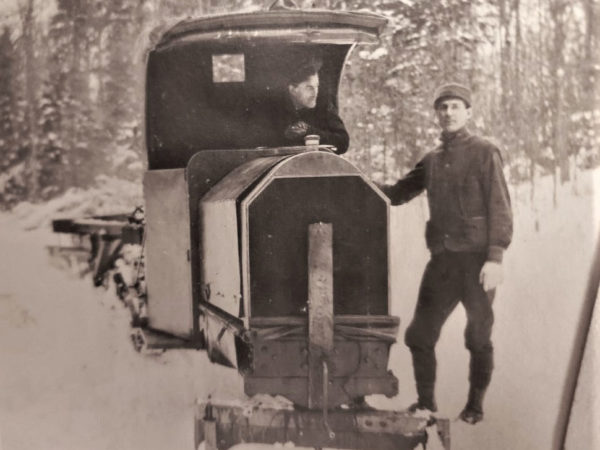 Logging with a Model T in the William C. Whitney Wilderness Area in Long Lake