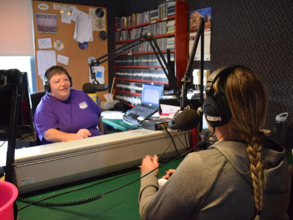 Reen Cook on the air at CKON