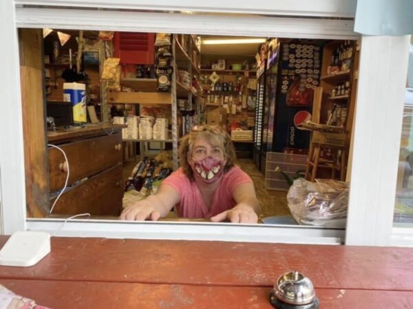 Vickie Sandiford at pick-up window